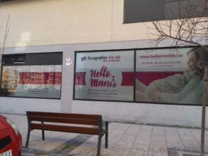 Fachada Hello Mami Ecografía 5D - Alcalá de Henares. Ecografías 5D en la Zona Norte y Corredor del Henares, Avenida Víctimas del Terrorismo, Alcalá de Henares, España